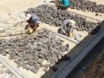 Konya granit küptaş doğal taş uygulama ekibi