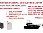 Tekne ve Yatlar için Solar Kablosuz Güneş Enerjili Hırsız  Alarm Kiti