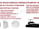 Karavanlar için Solar Kablosuz Güneş Enerjili Hırsız ve Yangın Alarm Kiti